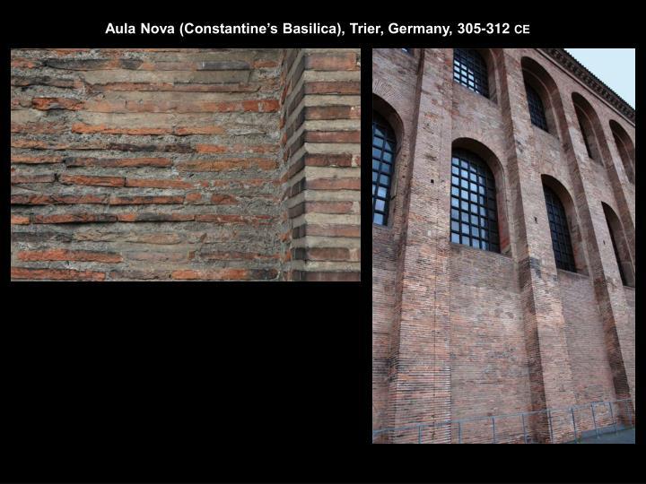 Aula Nova (Constantine's Basilica), Trier, Germany, 305-312