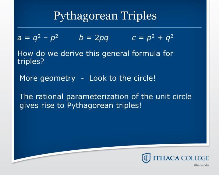 Pythagorean Triples