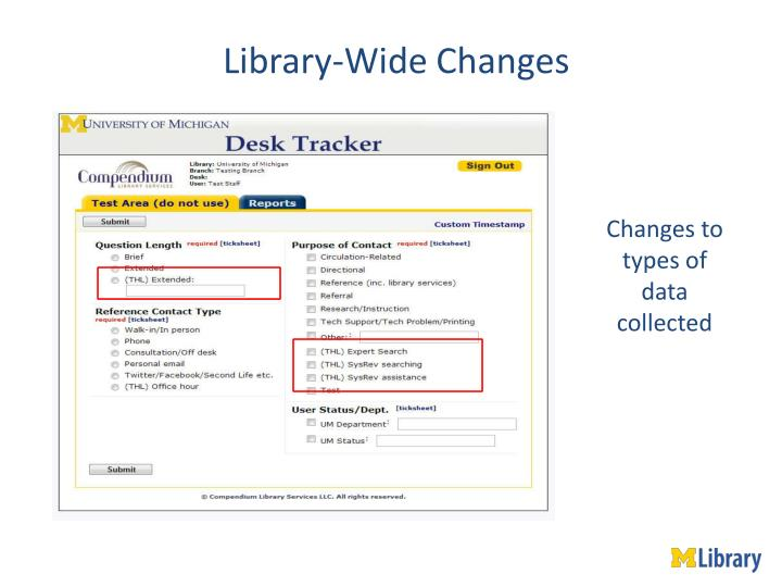 Library-Wide Changes