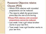 possessive objective relative clauses pos