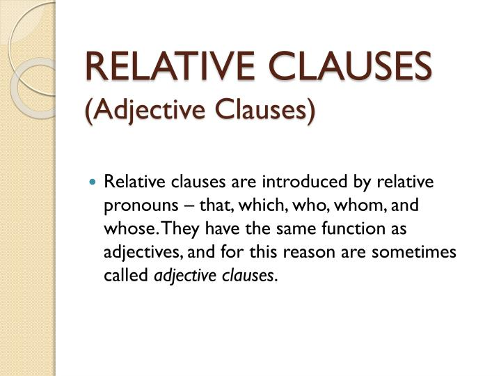 relative clauses adjective clauses