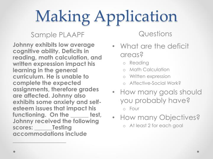 Making Application