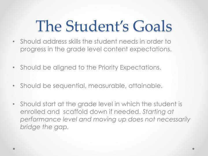 The Student's Goals