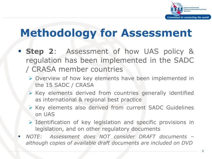 Methodology for assessment
