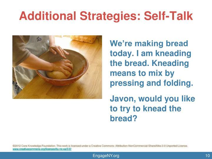 Additional Strategies: Self-Talk