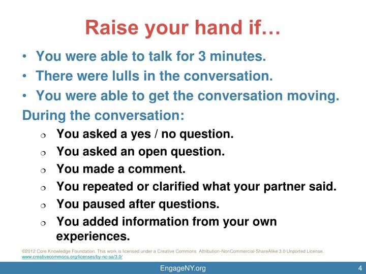 Raise your hand if…