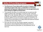 define e prescribing program