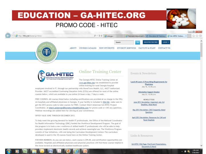 EDUCATION – GA-HITEC.ORG