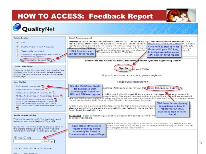 HOW TO ACCESS: