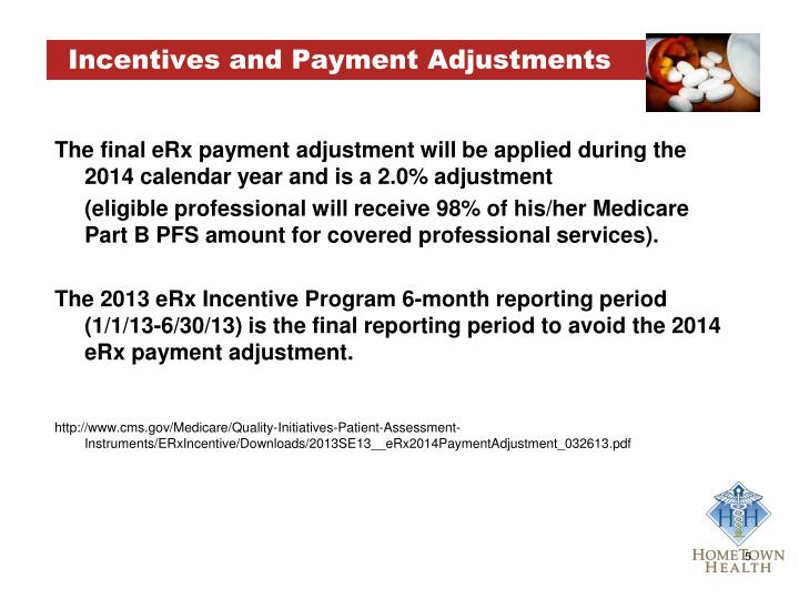 Incentives and Payment Adjustments