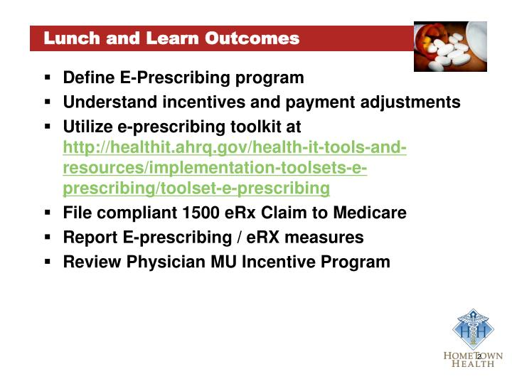 Lunch and Learn Outcomes