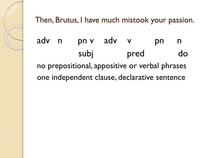 Then, Brutus, I have much mistook your passion.