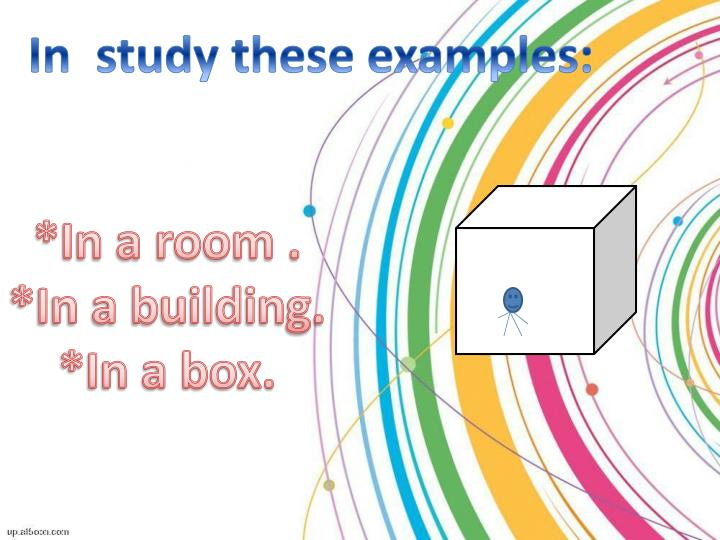 In  study these examples: