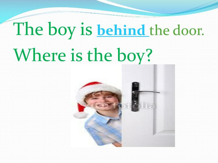The boy is