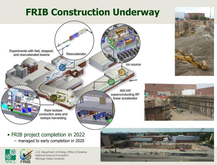 FRIB Construction Underway
