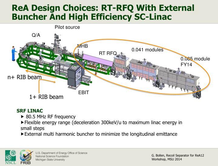 ReA Design Choices: