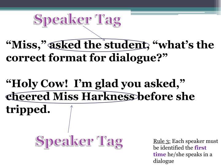 Speaker Tag