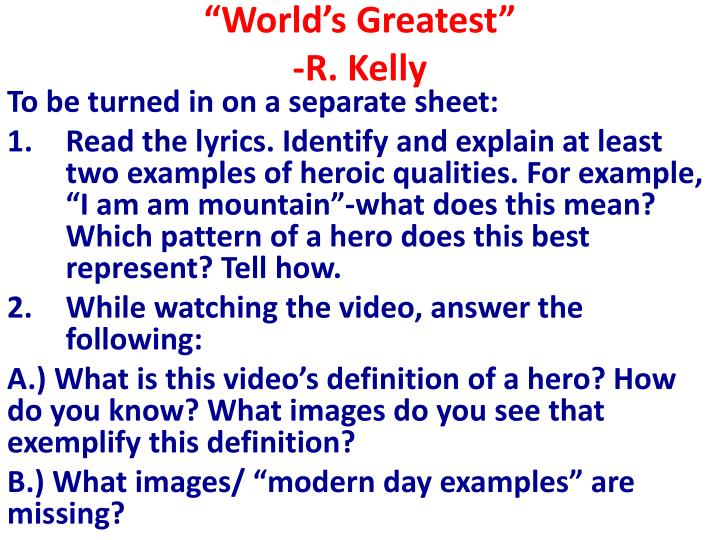 """World's Greatest"""