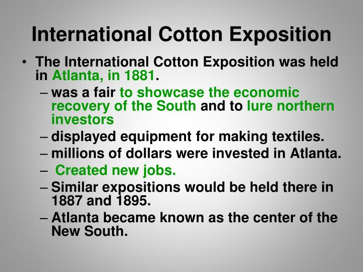 International Cotton Exposition