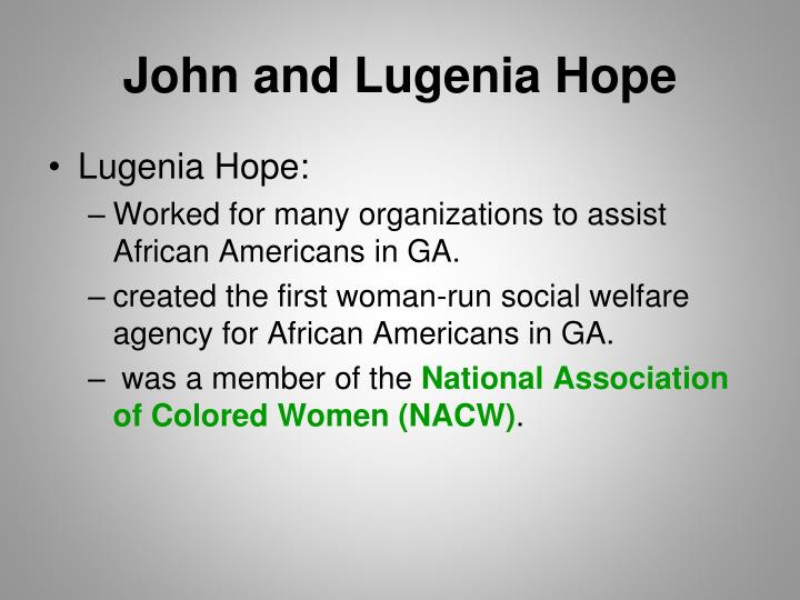 John and Lugenia Hope