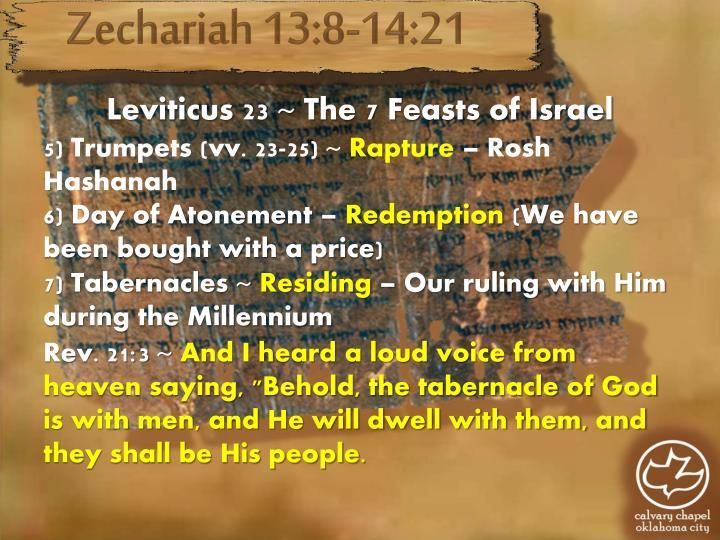 Zechariah 13:8-14:21