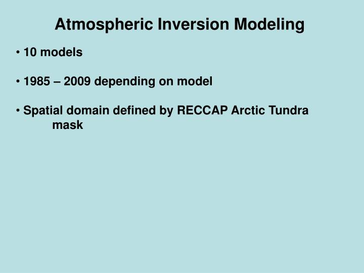 Atmospheric Inversion Modeling