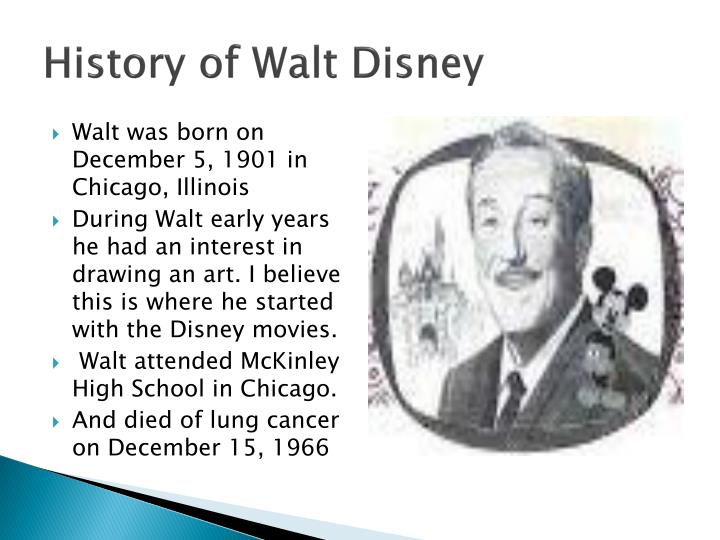 History of walt disney