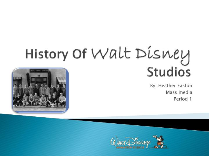 History of walt disney studios