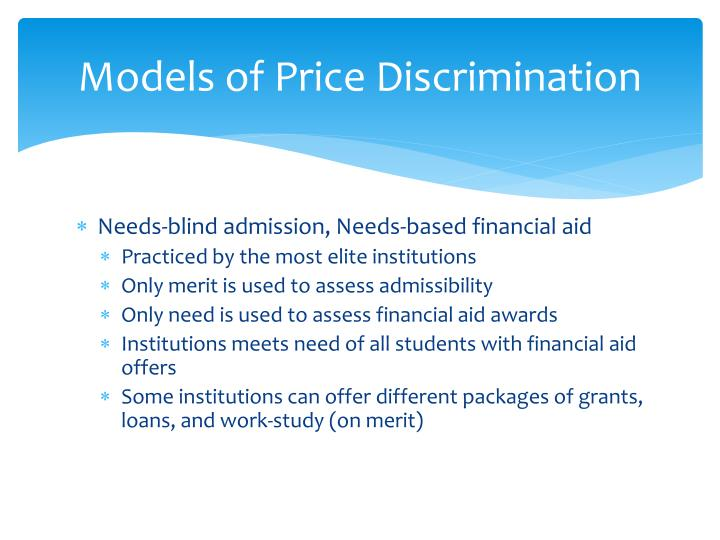 Models of Price Discrimination