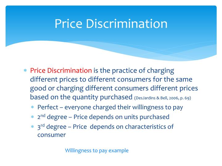 Price Discrimination