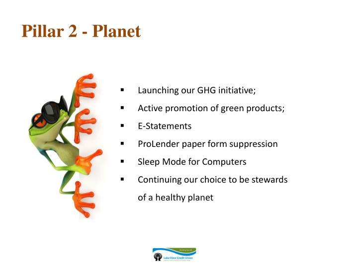 Pillar 2 - Planet