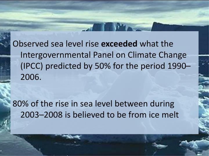 Observed sea level rise