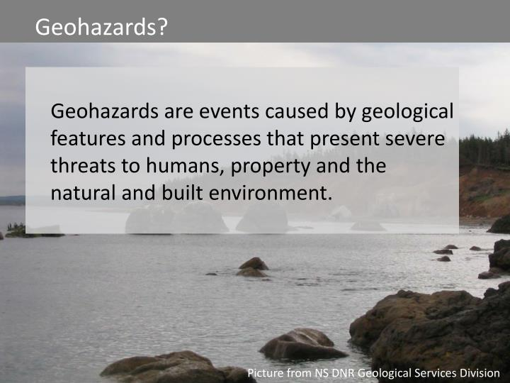 Assessing Geological Hazards