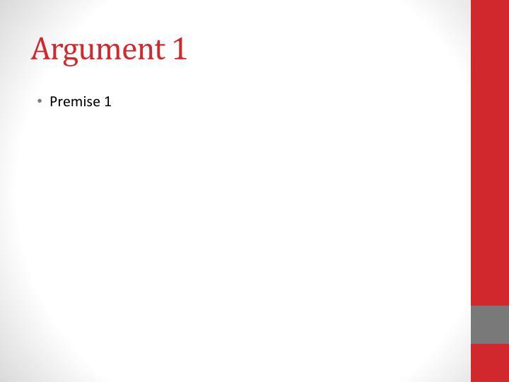 Argument 1