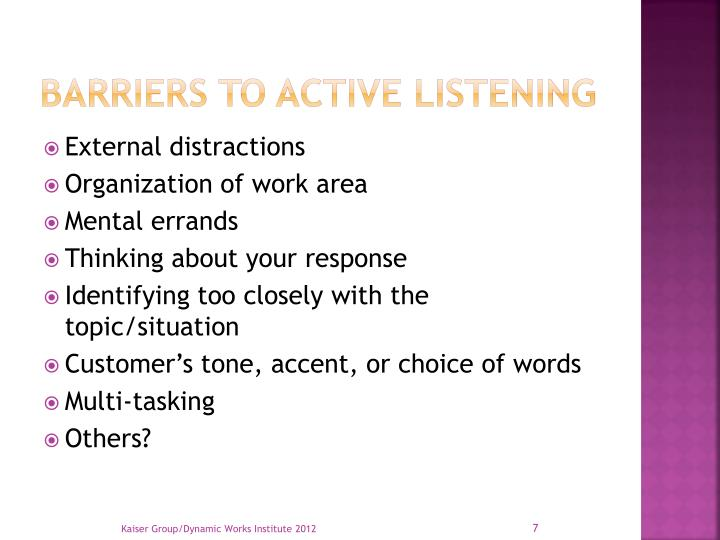 importance of listening presenting to Your audience speaks are you listening by craig harrison dtm, pdg try to decipher what you hear from your audience, what it.