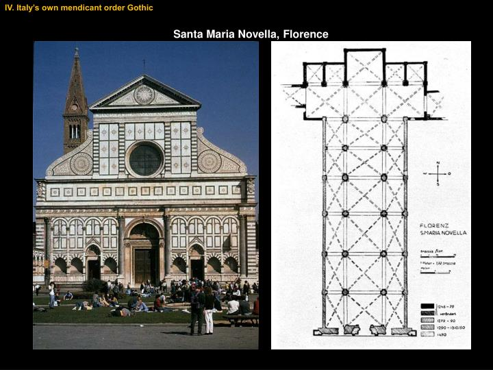 IV. Italy's own mendicant order Gothic