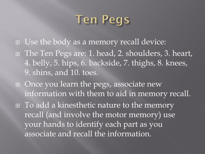 Ten Pegs
