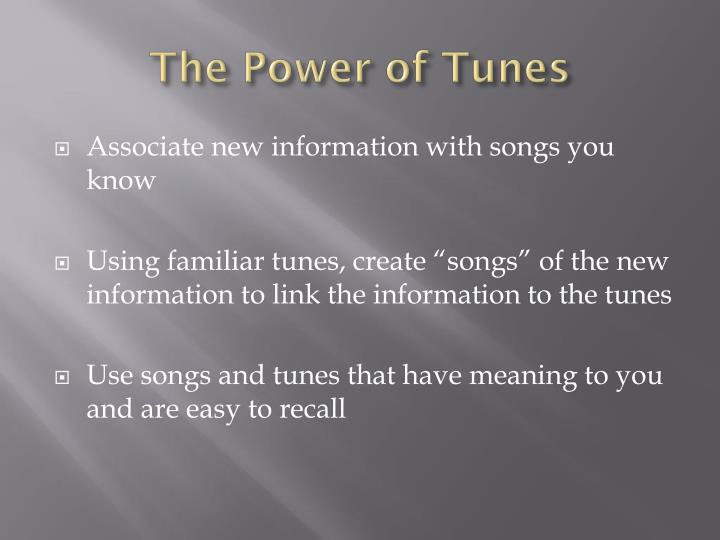 The Power of Tunes