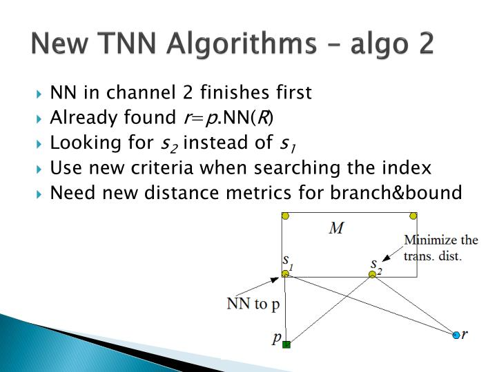 New TNN Algorithms –