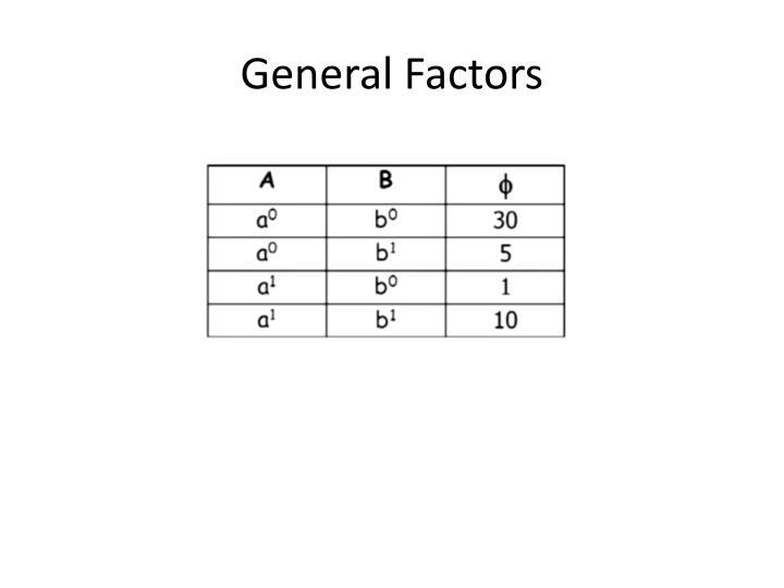 General Factors