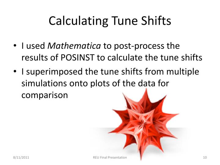 Calculating Tune Shifts