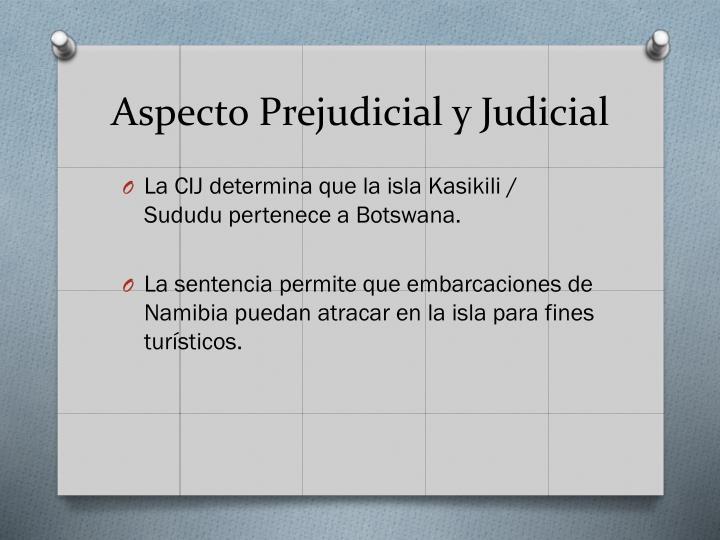Aspecto Prejudicial y Judicial
