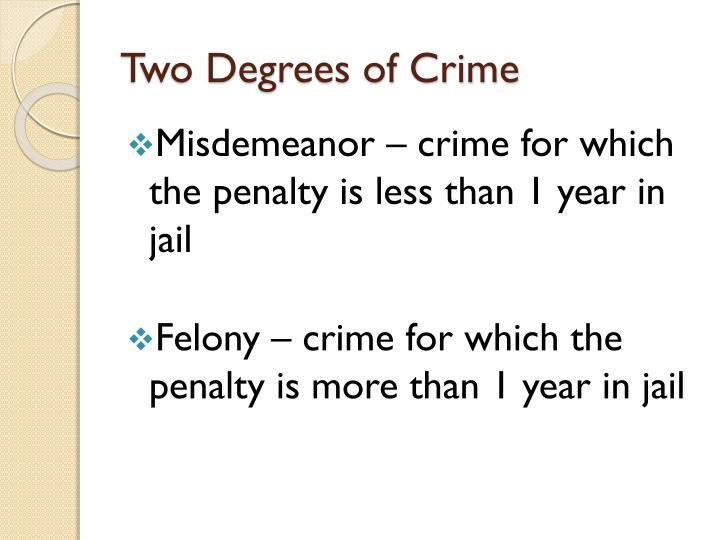 Two Degrees of Crime