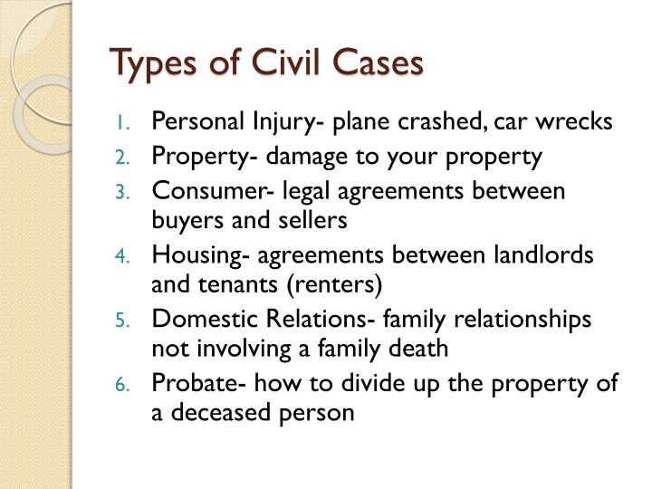 Types of Civil Cases