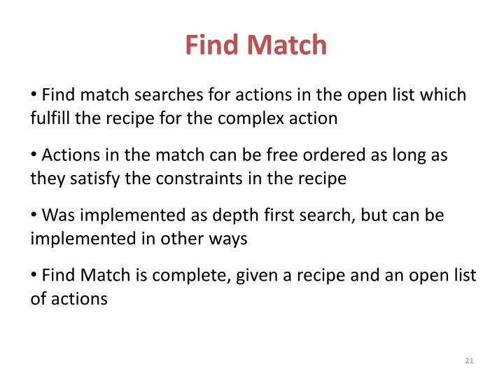 Find Match