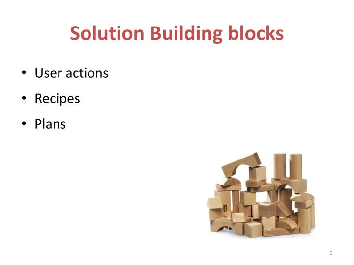 Solution Building blocks