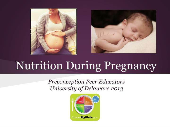 nutrition during pregnancy In the 20 years since publication of the food and nutrition board's landmark report maternal nutrition and the course of pregnancy (nrc, 1970), fields of nutrition.