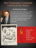 has communism completely left the soviet union