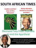 nelson mandela elected as first black president