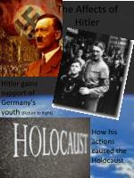 the affects of hitler